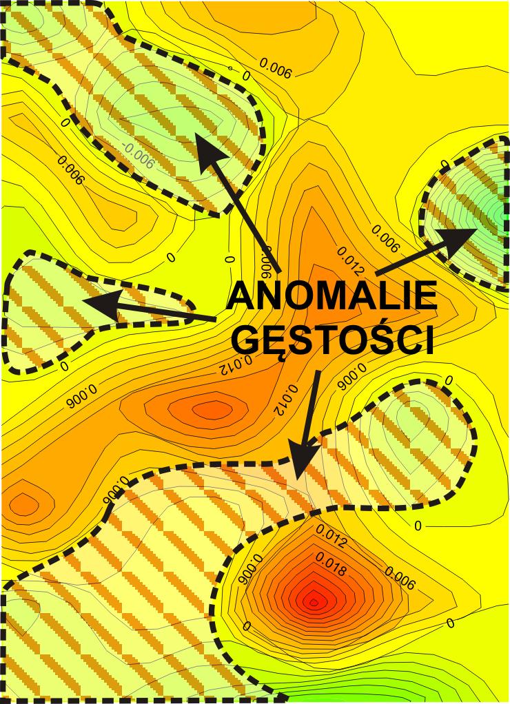GeoSpectrum - Mapa anomalii resztkowych siły ciężkości