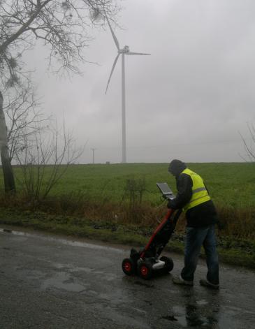 GeoSpectrum - Badania georadarowe drogi w celu określenia możliwości przejazdu ponadnormatywnego transportu z komponentami do turbin wiatrowych
