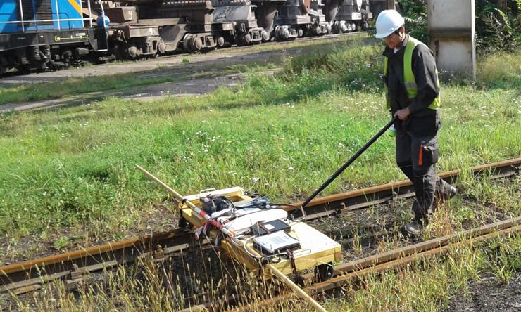 GeoSpectrum - Badania georadarowe gruntu pod szlakiem kolejowym na terenie przemysłowym