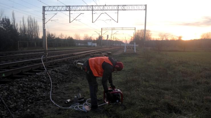 GeoSpectrum - Badania geotechniczne sondą dynamiczną DPL przy szlaku kolejowym