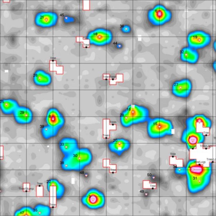GeoSpectrum - Mapa anomalii elektromagnetycznych z wykorzystaniem konduktometru EM-63