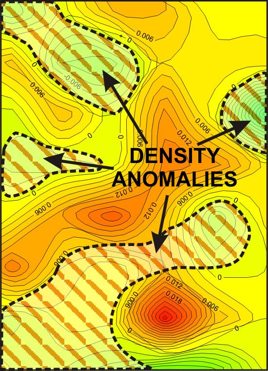 GeoSpectrum - Gravimetric residual anomaly map