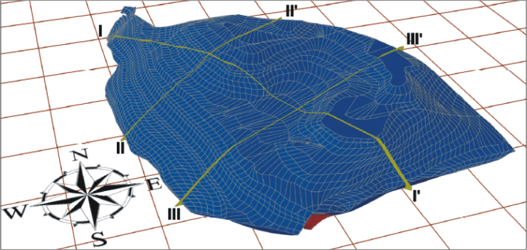 GeoSpectrum - -3D model of the site constructed on the basis of geodetic measurements and geophysical surveys