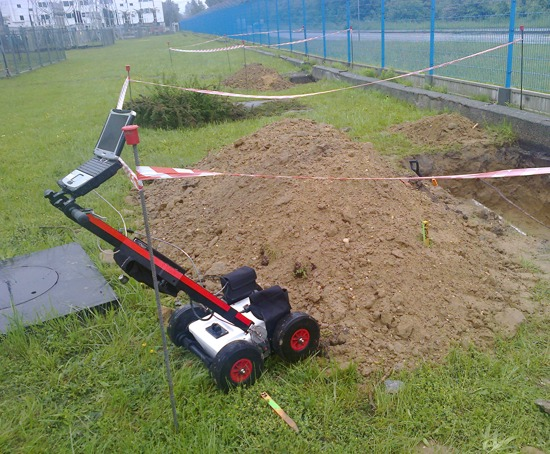 GeoSpectrum - GPR survey to detect potential collisions on the projected route of shallow horizontal drilling between excavations and mapping infrastructure
