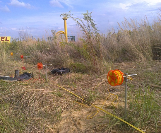 GeoSpectrum - Ground resistance measurements by the Wenner's spread of resistivity sounding for the projected gas pipeline