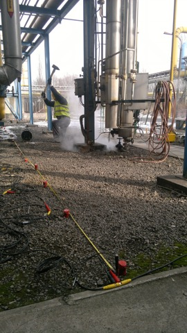 GeoSpectrum - Complex surveys near pipes and oxygen installations in order to identify areas of loosened by the method of seismic engineering