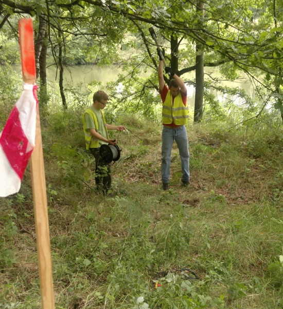 GeoSpectrum - Micro-seismic surveys for the recognition of soil and rock by the river at the site of the planned deep drilling HDD